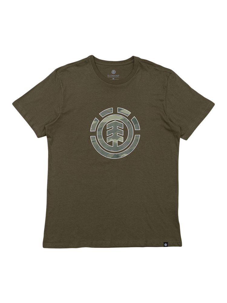 Camiseta Element Landscape Camo Juvenil Verde Militar