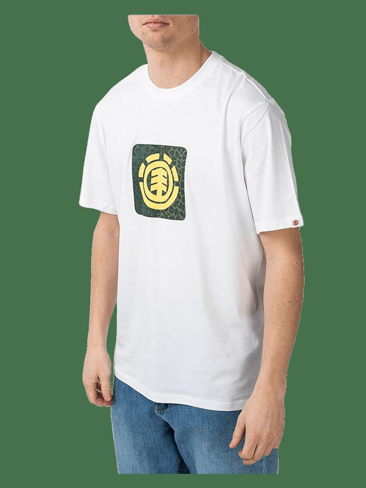 Camiseta Element Leopard Block Icon Branca