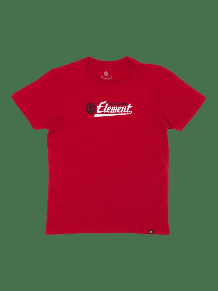 Camiseta Element Signature Infantil Juvenil Vermelha