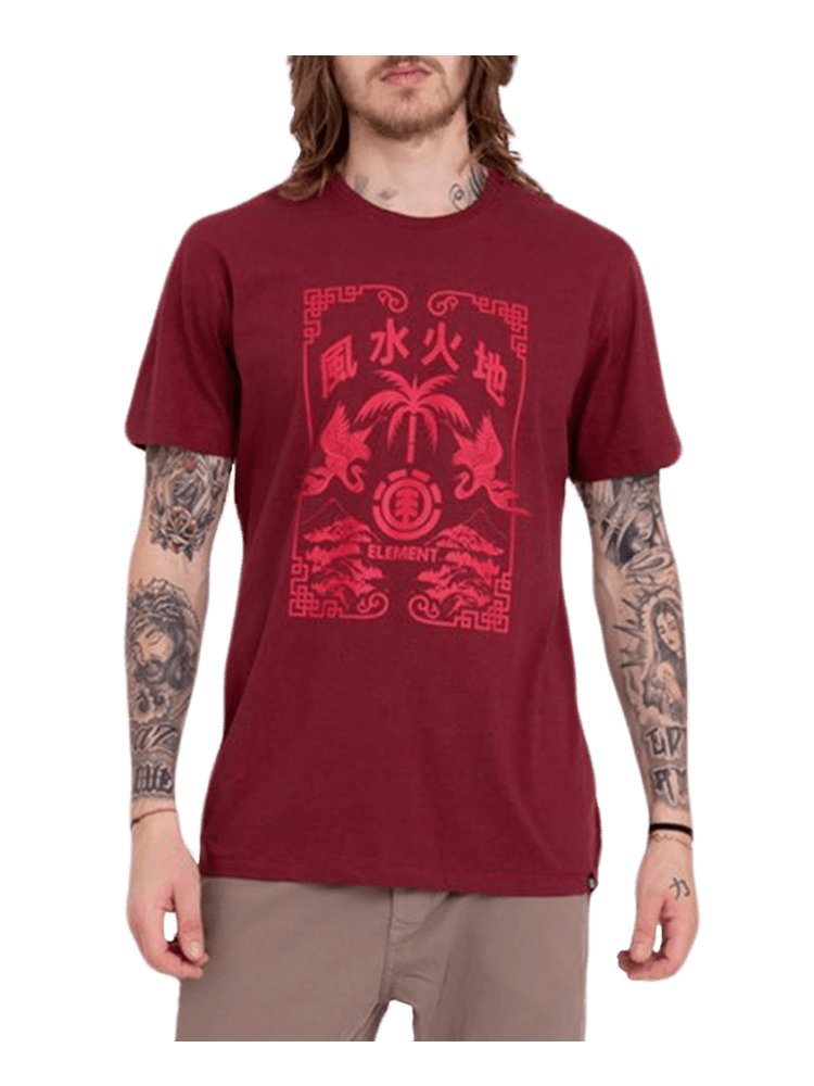 Camiseta Element Woodcut Vermelha