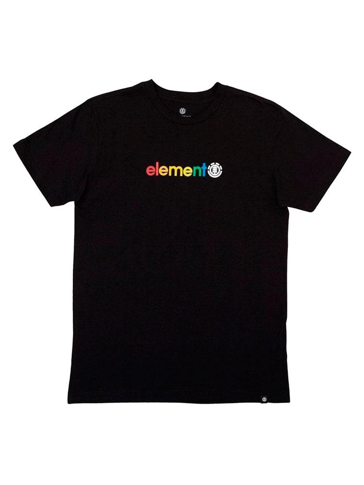 Camiseta Element Youth Horizontal Preta