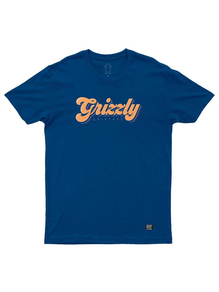Camiseta Grizzly Disco Strip Royal