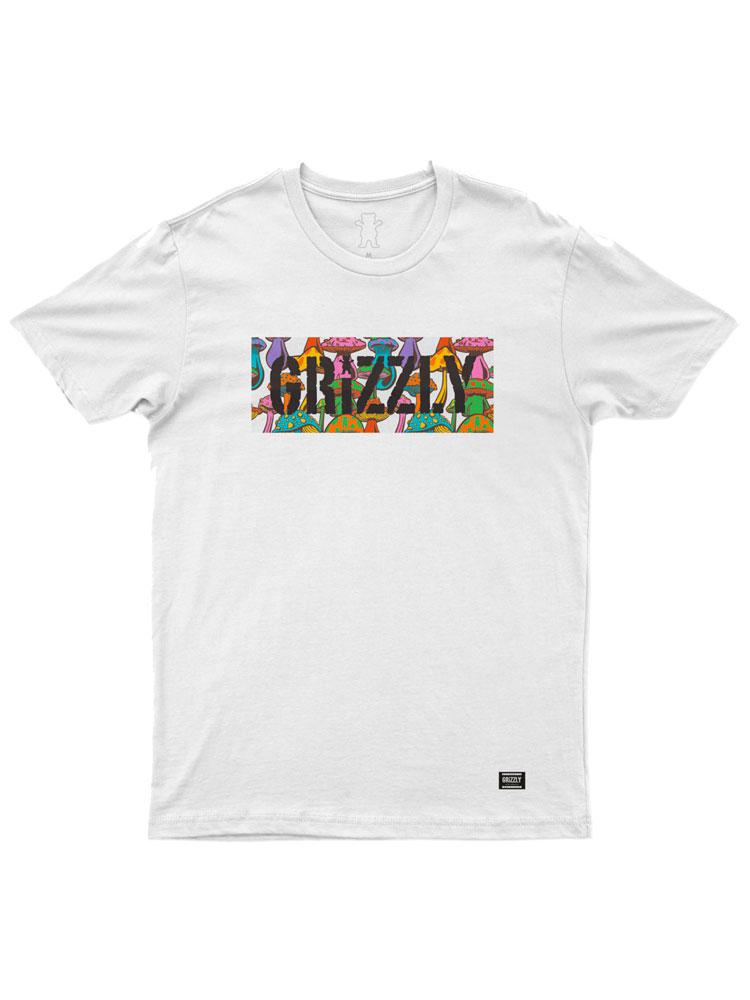 Camiseta Grizzly Fungi Box Branca