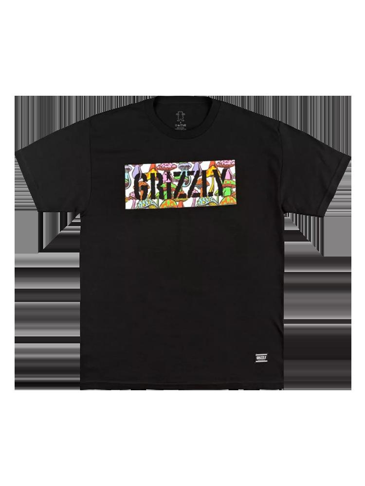Camiseta Grizzly Fungi Box Preta