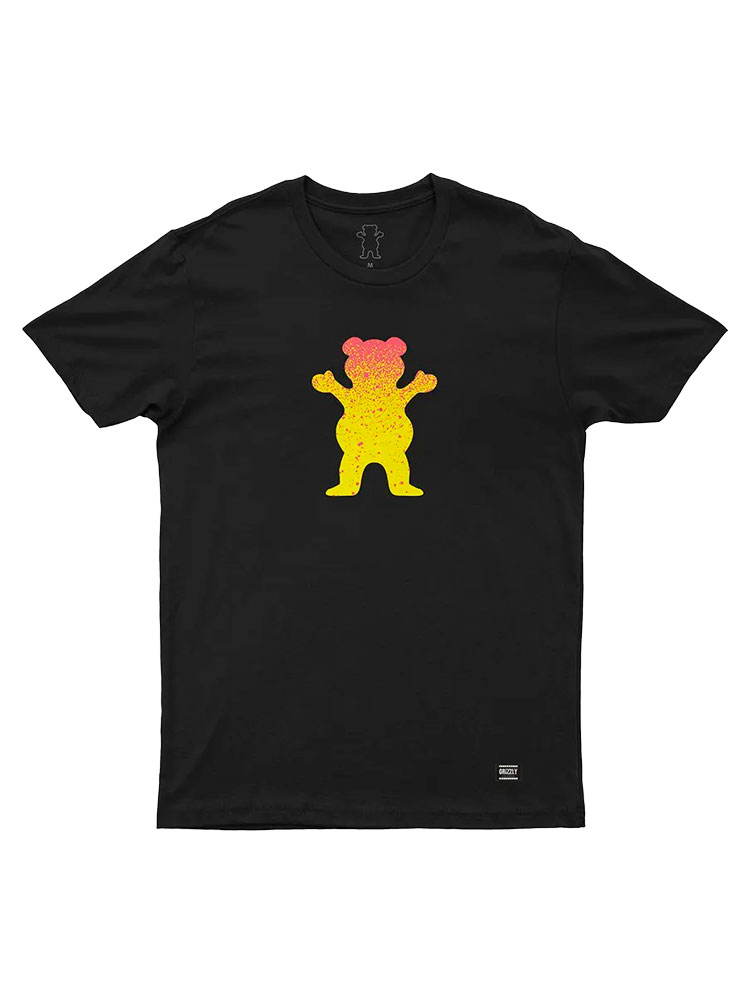 Camiseta Grizzly OG Bear Fadeway Preta
