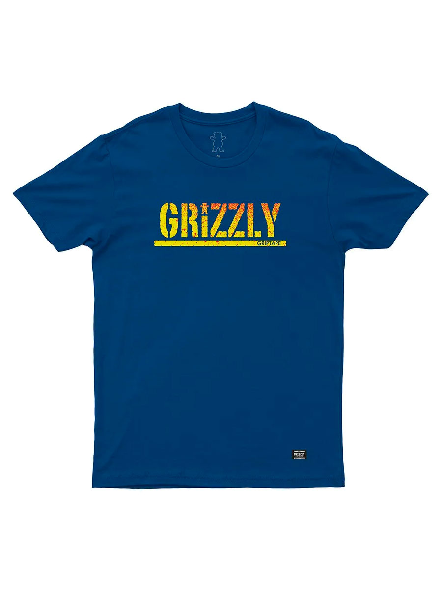 Camiseta Grizzly Stamped Fadeway Royal