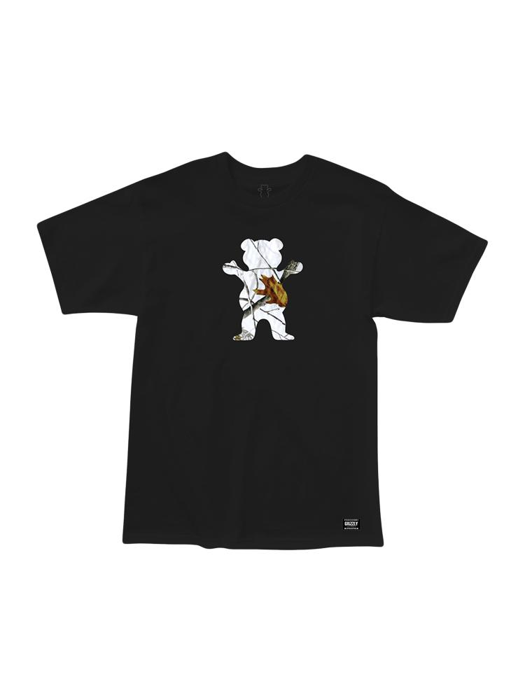 Camiseta Grizzly Winter Camo Og Bear Preta