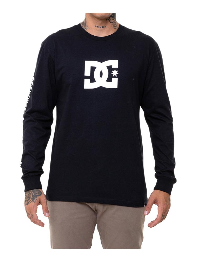 Camiseta Manga Longa DC Shoes Star Sleeve Preta