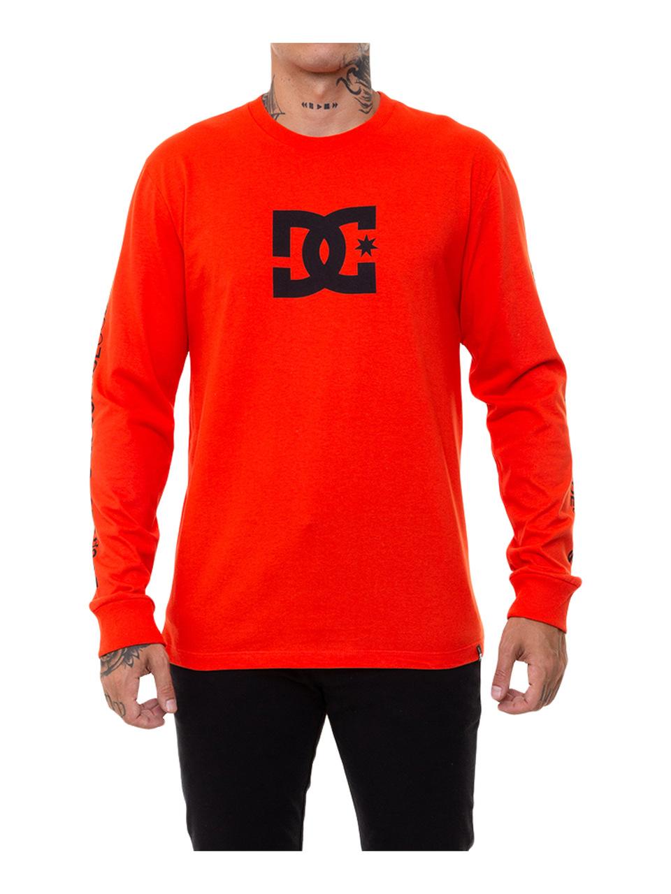 Camiseta Manga Longa DC Shoes Star Sleeve Vermelha