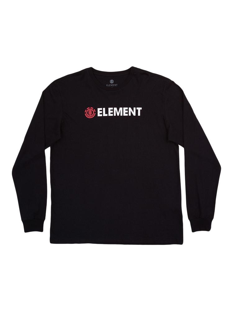 Camiseta Manga Longa Element Blazin Preta