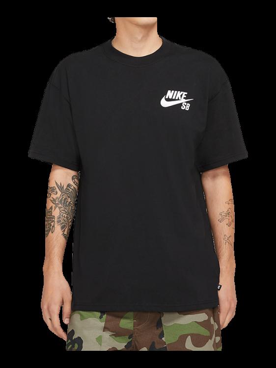 Camiseta Nike SB Left Chest Script Preta