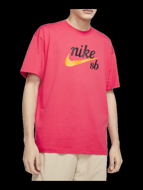Camiseta Nike SB Logo Amarelo / Rosa