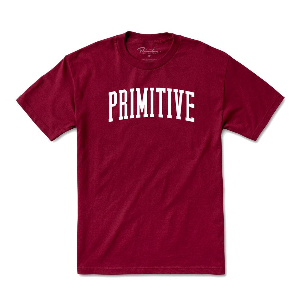 Camiseta Primitive Collegiate Arch Outline Burgundy