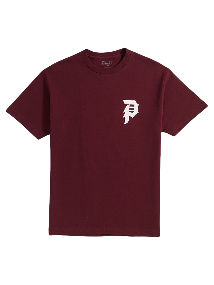 Camiseta Primitive Dirty Core Burgundy
