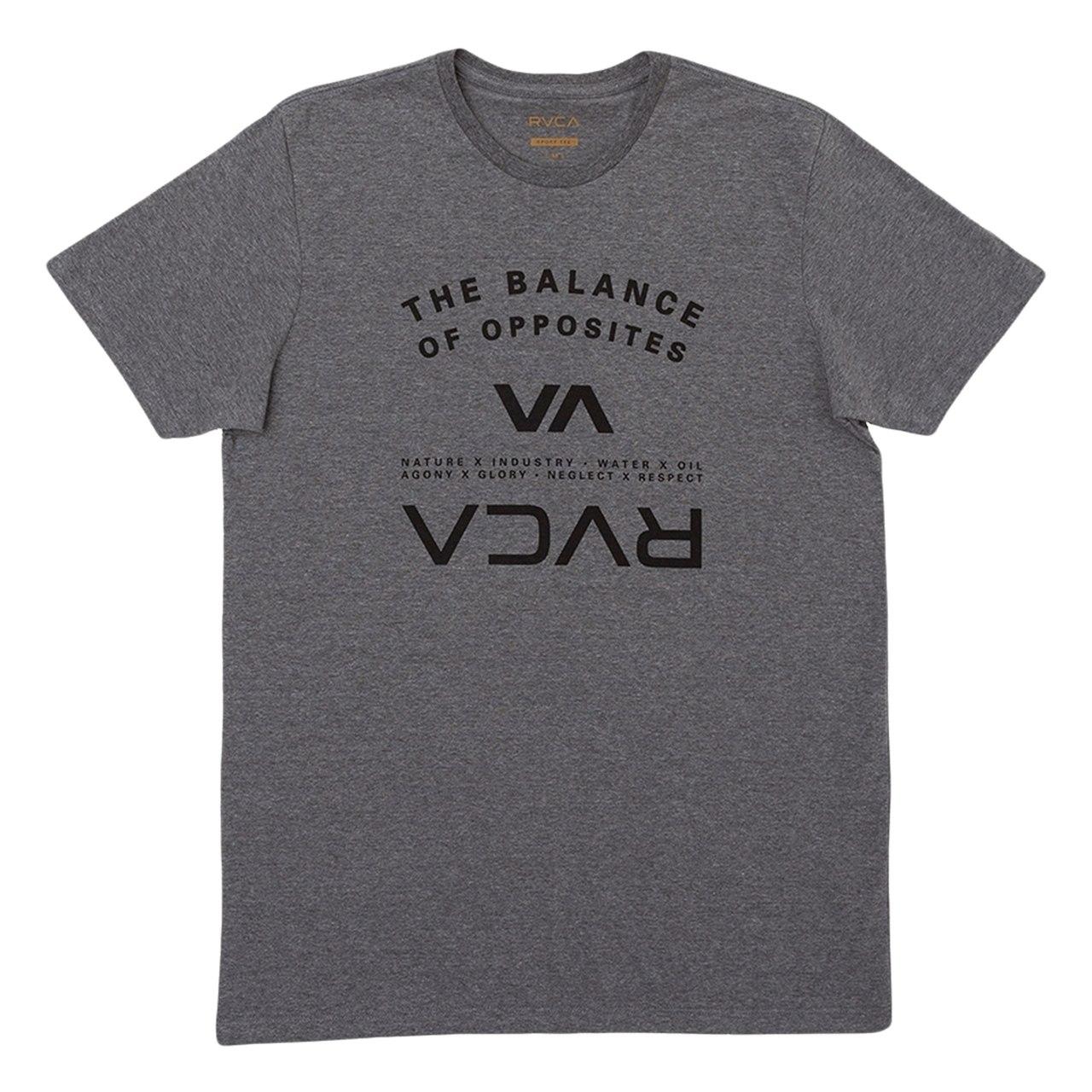 Camiseta Rvca Balance Arch Cinza Mescla