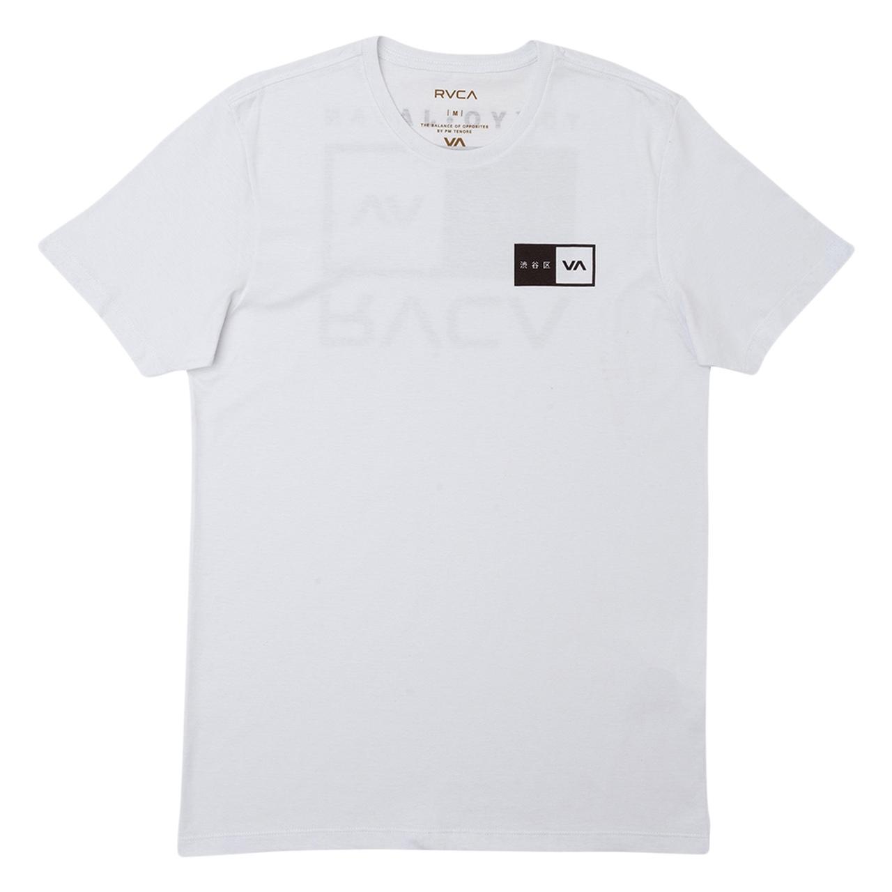 Camiseta Rvca Tokyo Balance Box Branca