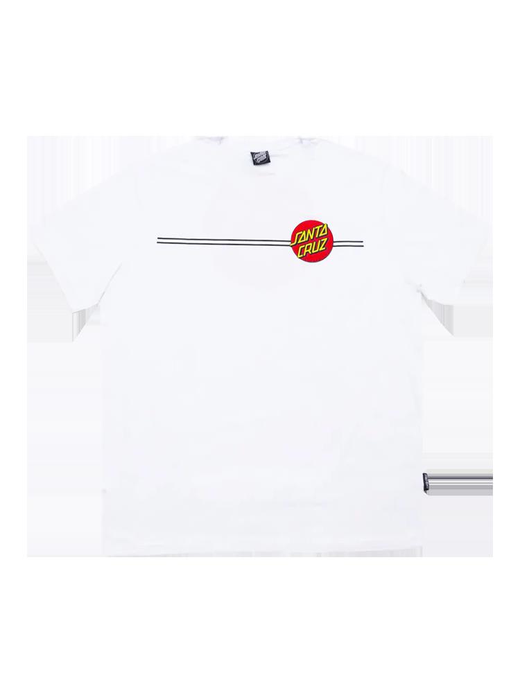 Camiseta Santa Cruz Classic Dot Branca