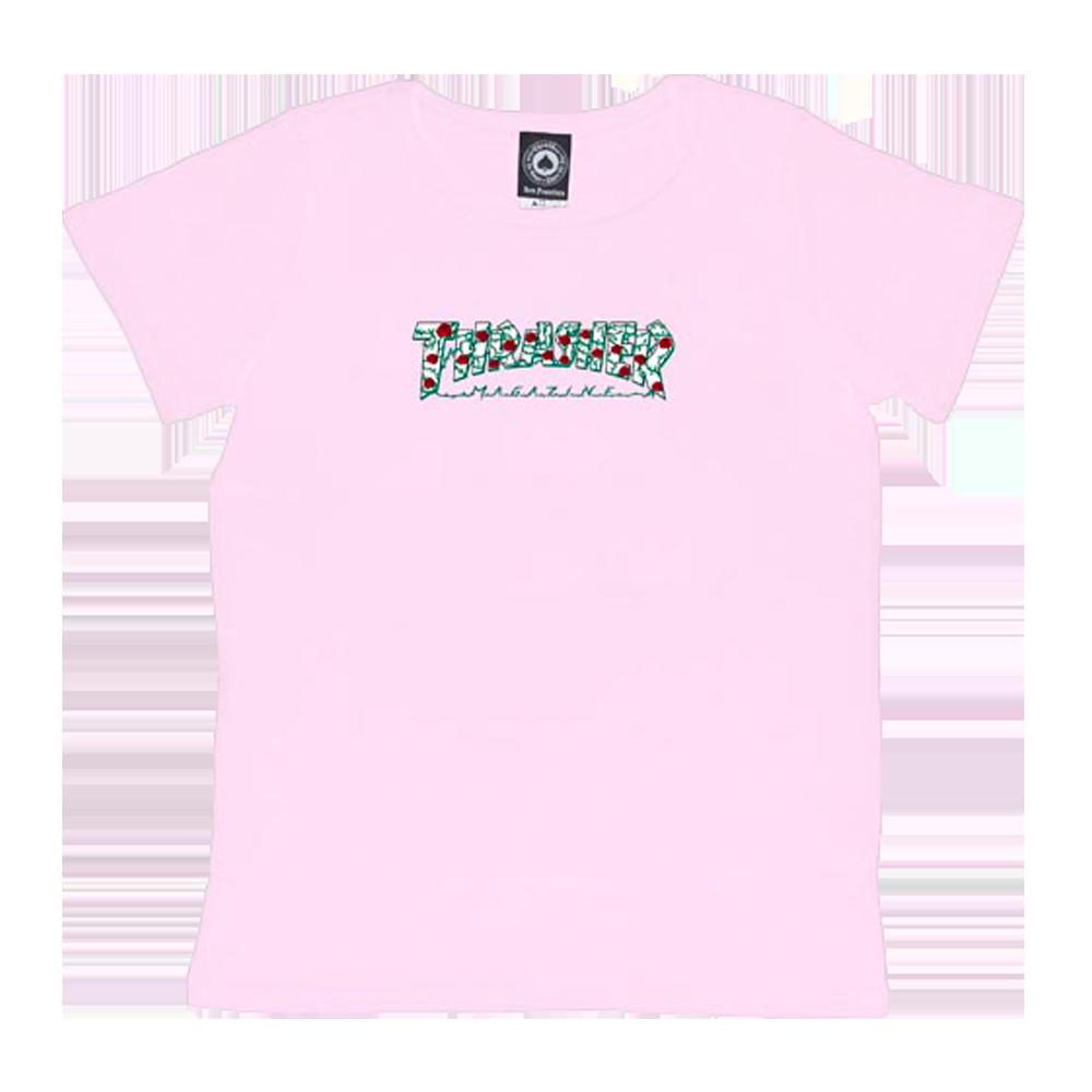 Camiseta Thrasher Feminina Roses Rosa