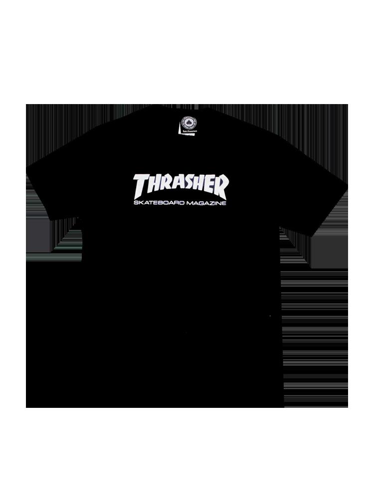 Camiseta Thrasher Juvenil Skate Mag Preta