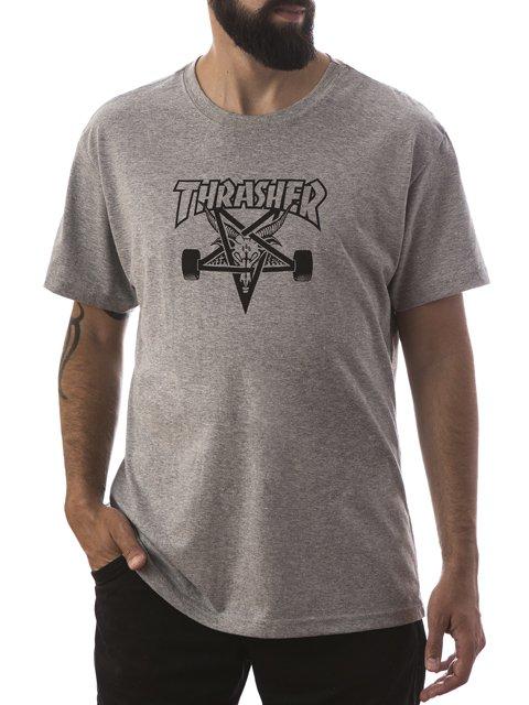 Camiseta Thrasher Skategoat Cinza Mescla