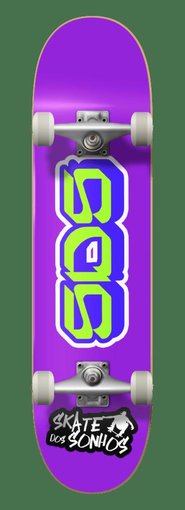 Fingerboard Skate Dos Sonhos Maple Sds Purple