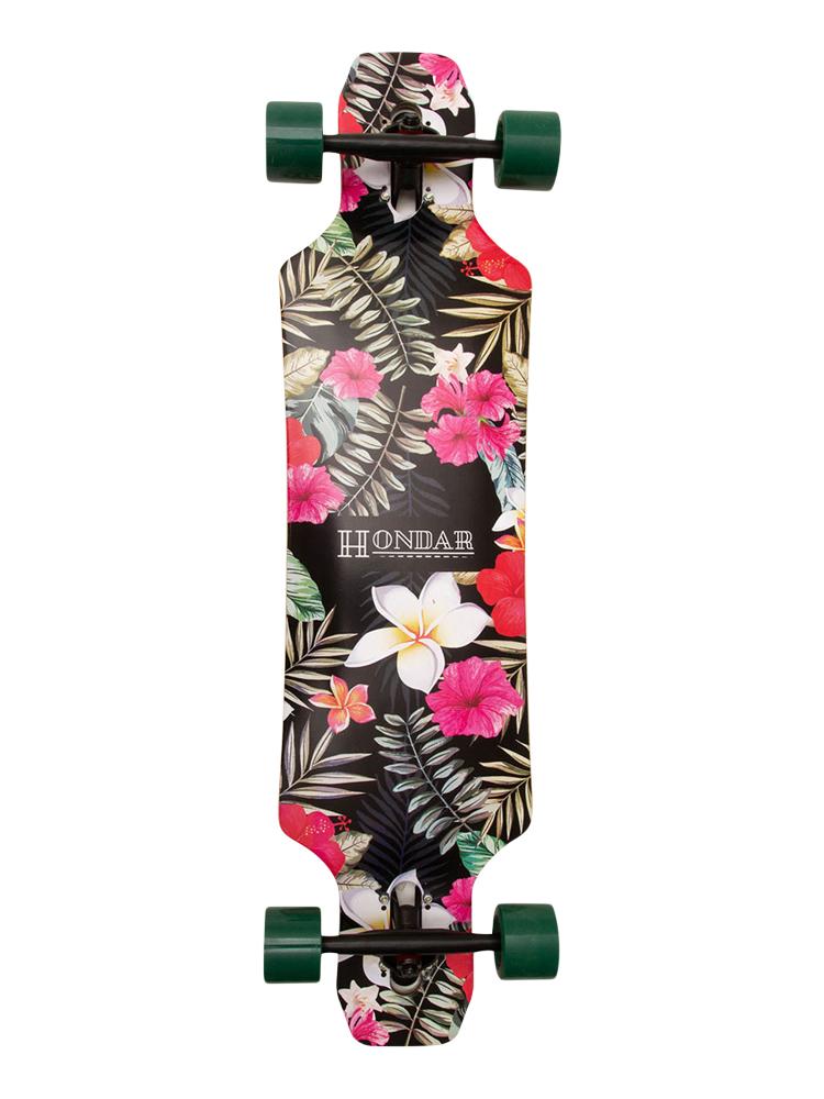 Longboard Hondar 40 Polegadas Floral Pink Freestyle