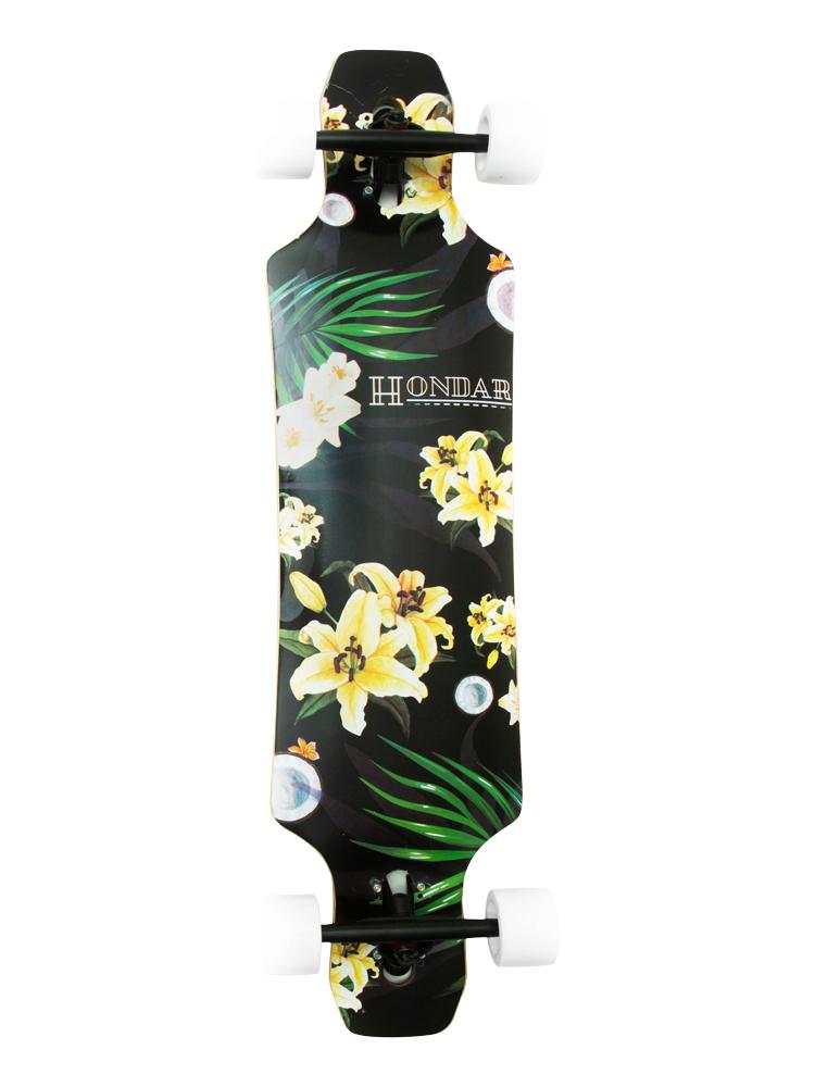 Longboard Hondar 40 Polegadas Floral Yellow Freestyle