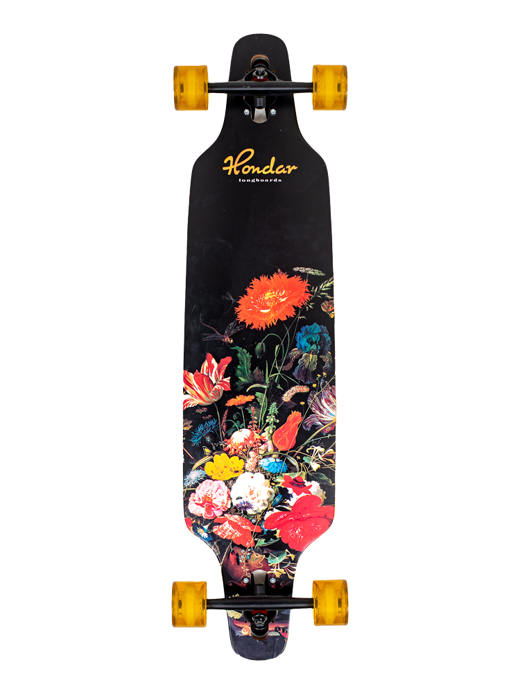 Longboard Hondar 40 Polegadas Flowers Freestyle