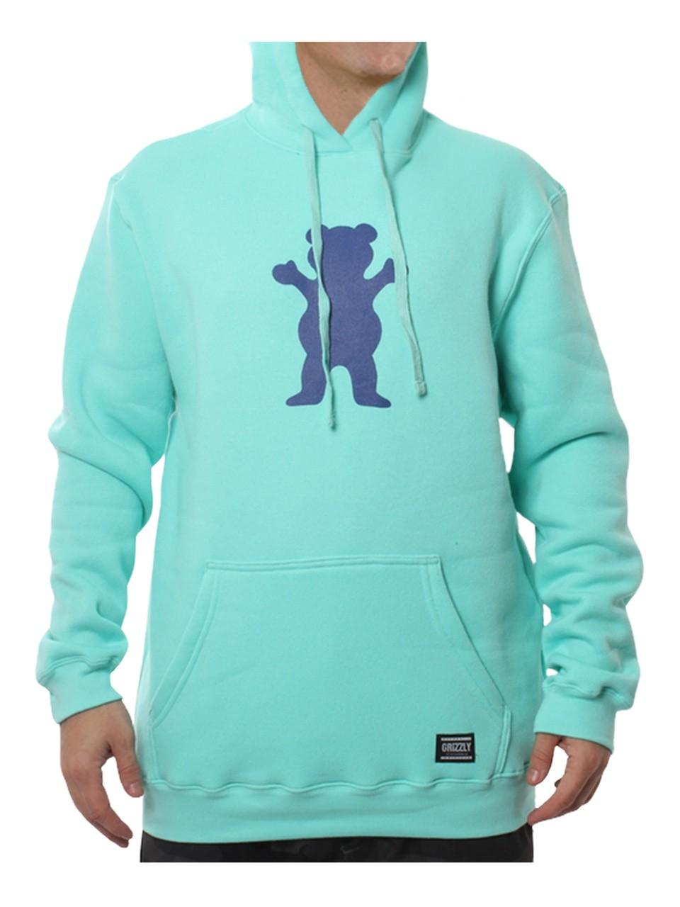 Moletom Grizzly OG Bear Pullover Hoodie Celadon