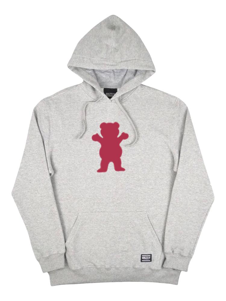 Moletom Grizzly Og Bear Pullover Hoodie Cinza Mescla