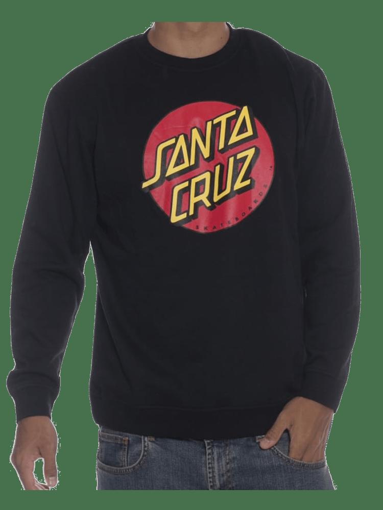 Moletom Santa Cruz Classic Dot Preto