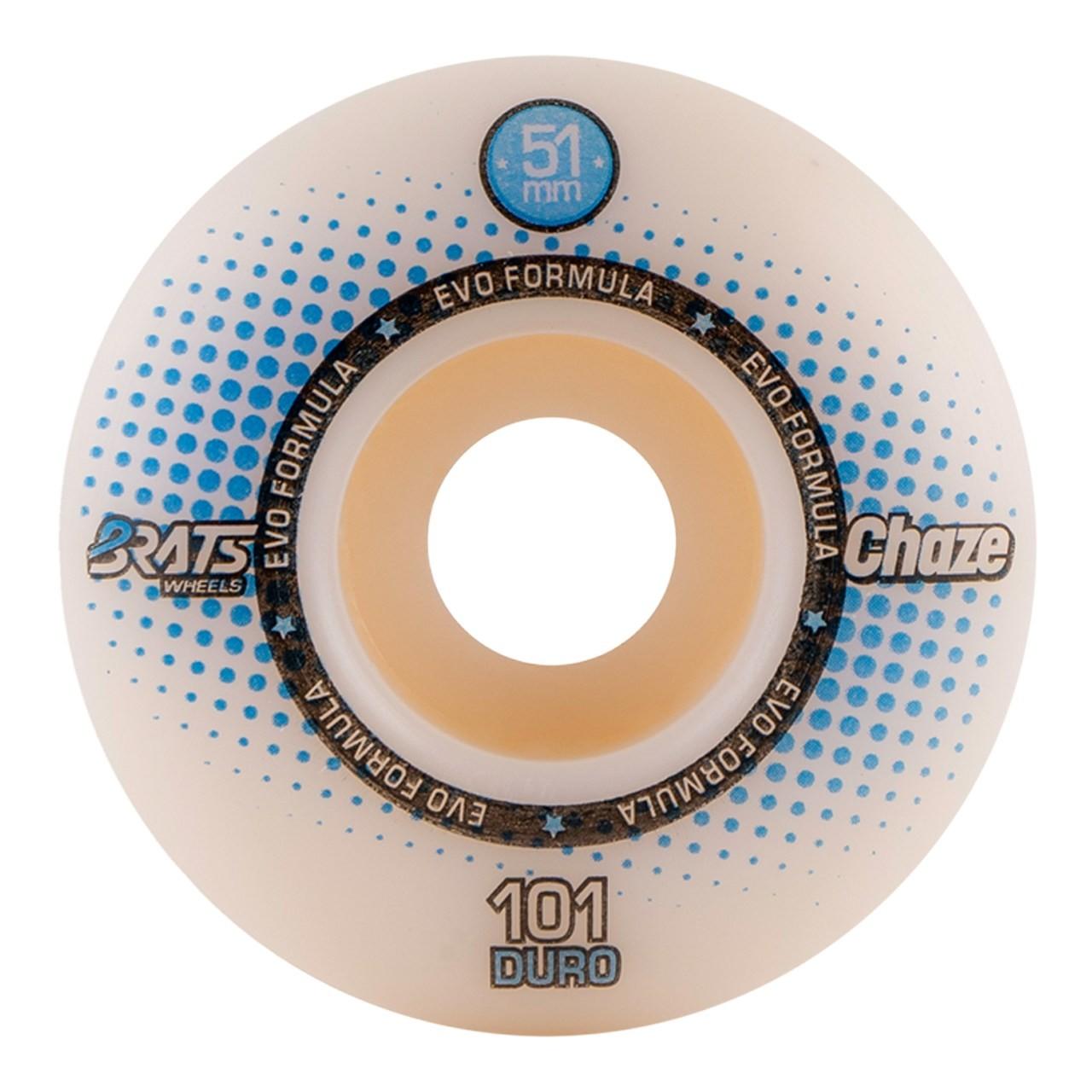Roda Brats X Chaze 51MM Collab White 101A