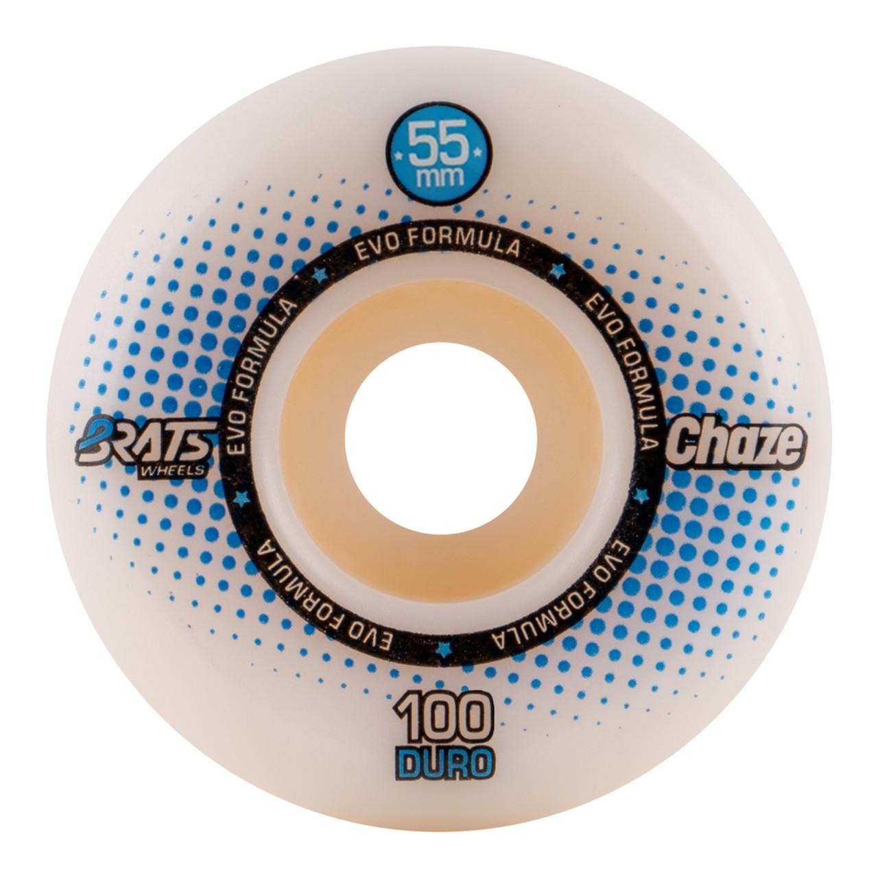 Roda Brats X Chaze 55MM Collab White 100A