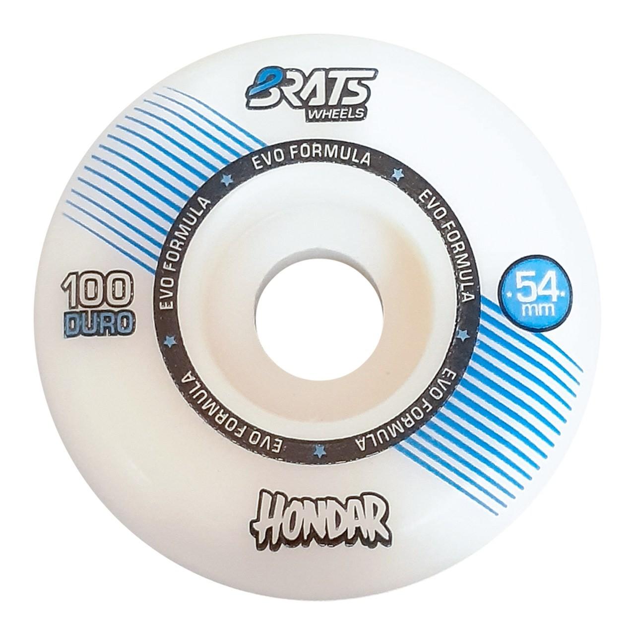 Roda Brats X Hondar 54MM Collab White 100A
