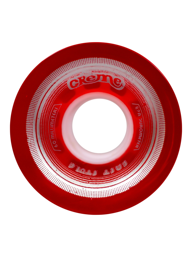 Roda Creme 60MM Lines Silver Translucent Red 82A