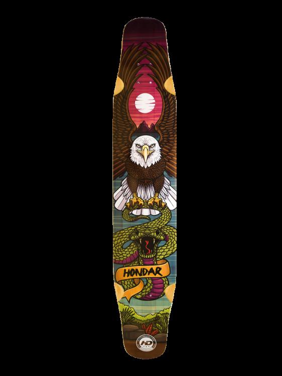 Shape Longboard Hondar 8.75 Águia Dancing Freestyle