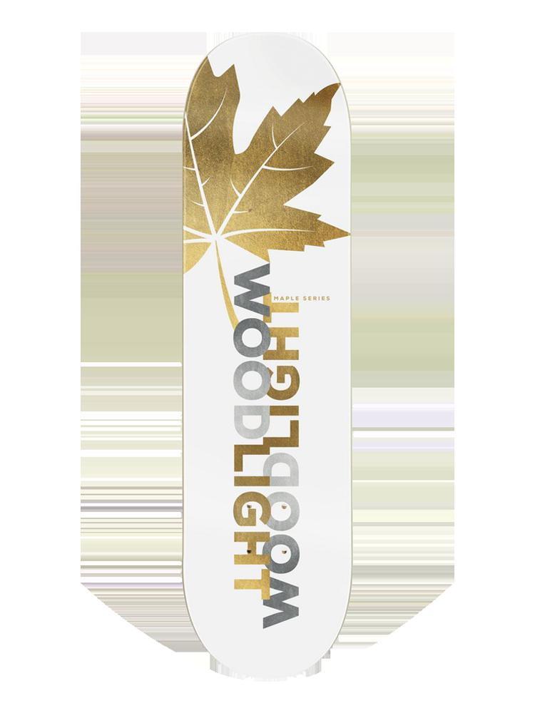 Shape Wood 8.25 Light Mirrored Gold