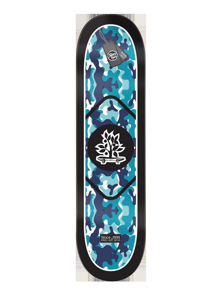 Shape Wood Light 7.75 Army Camo Ice Blue