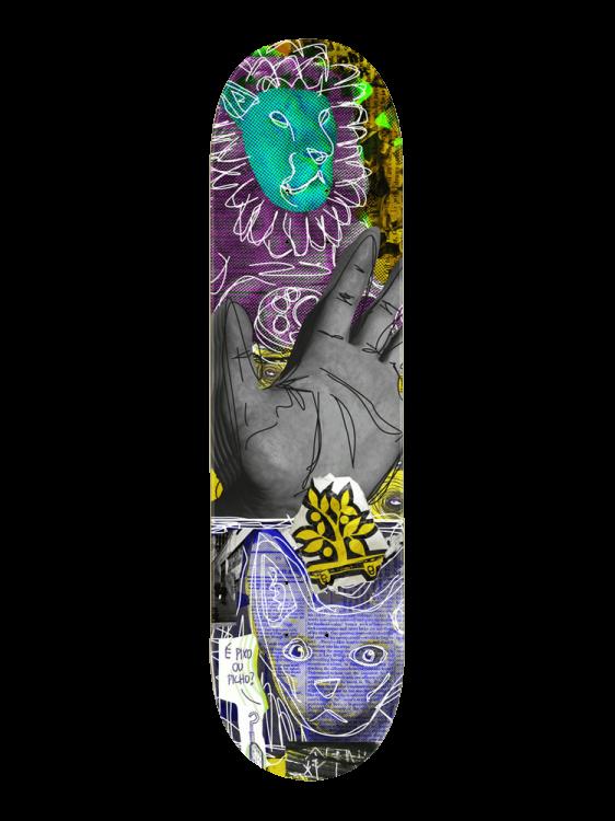 Shape Wood Light 7.75 Trash Collage Hand Cat