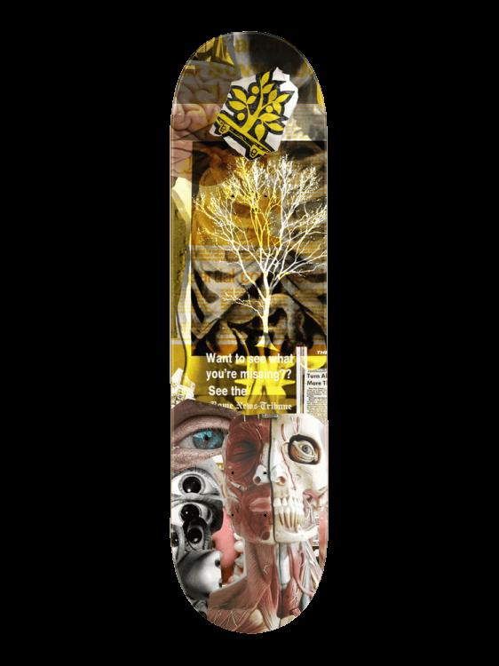 Shape Wood Light 7.75 Trash Collage Human
