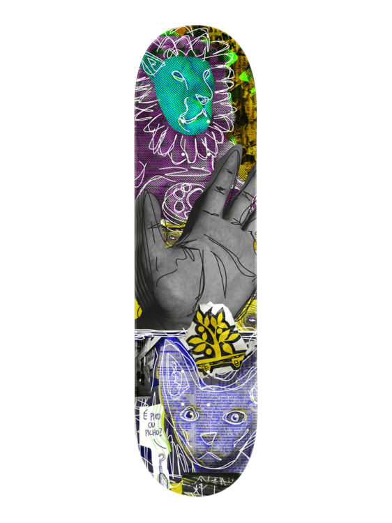 Shape Wood Light 8.0 Trash Collage Hand Cat