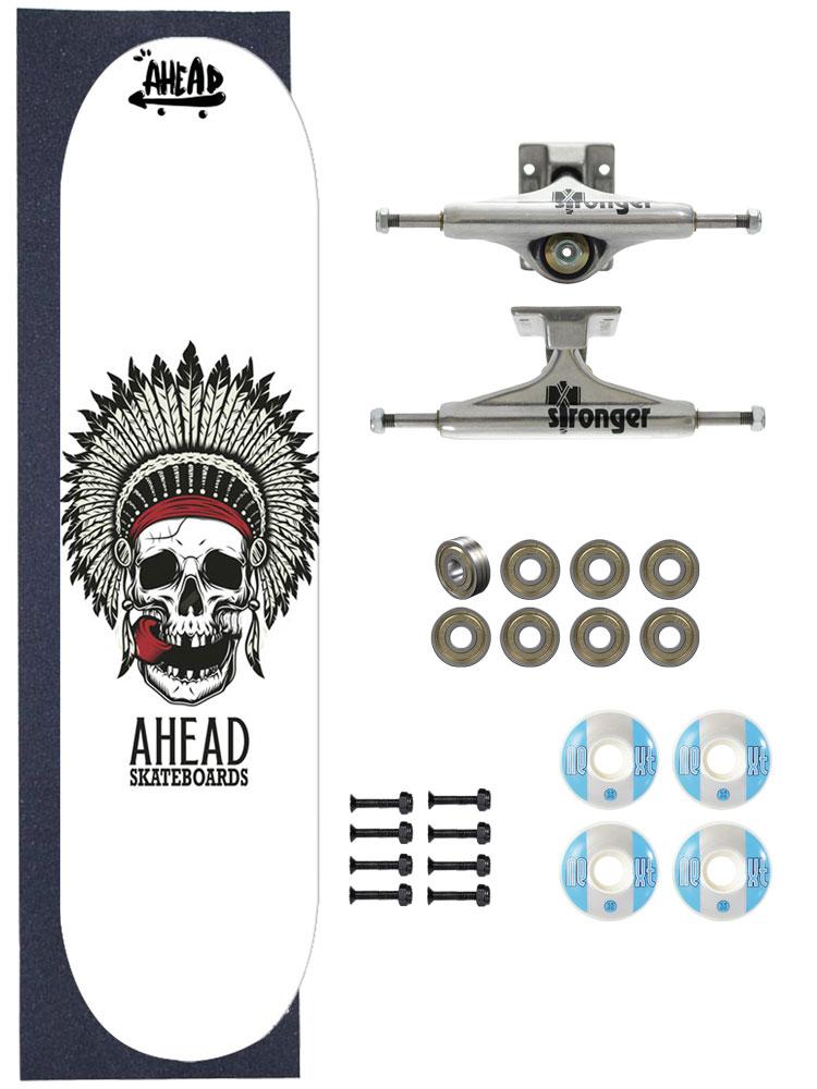 Skate Ahead Completo Amador Bones Head Apache