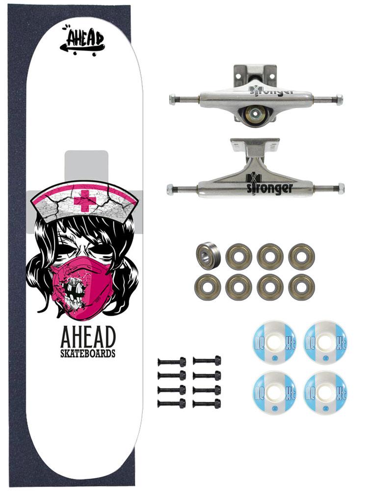 Skate Ahead Completo Amador Bones Head Nurse