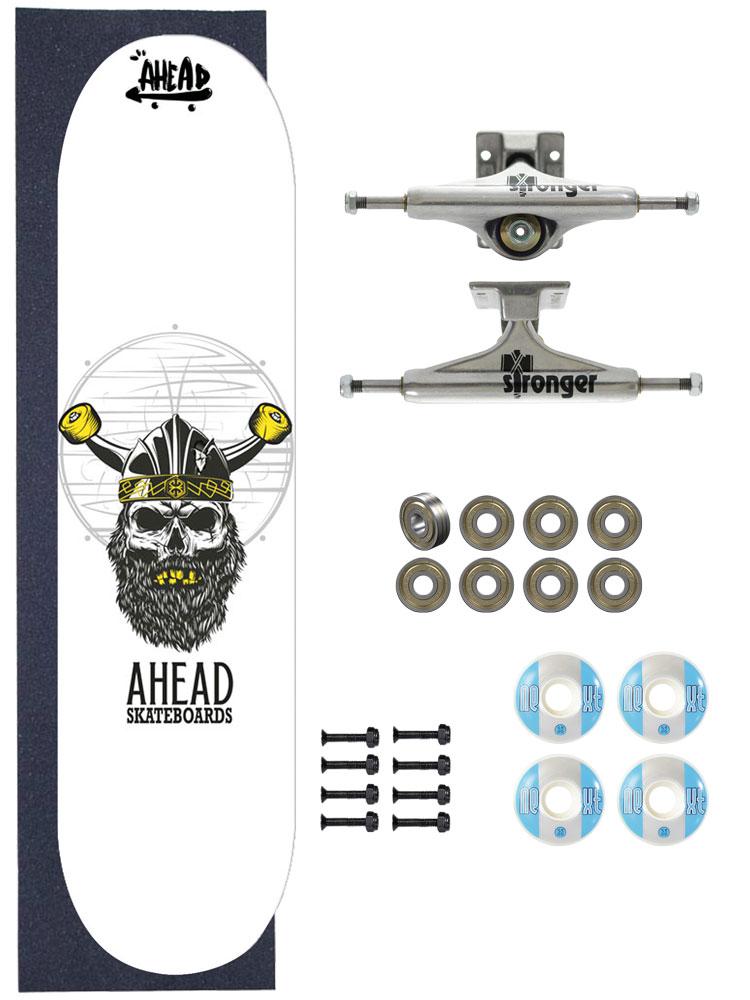 Skate Ahead Completo Amador Bones Head Viking