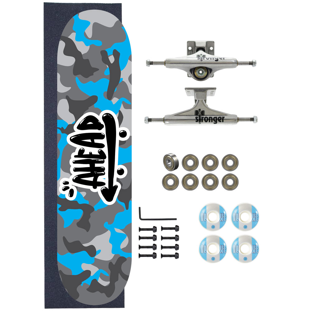 Skate Ahead Completo Amador Military All Blue