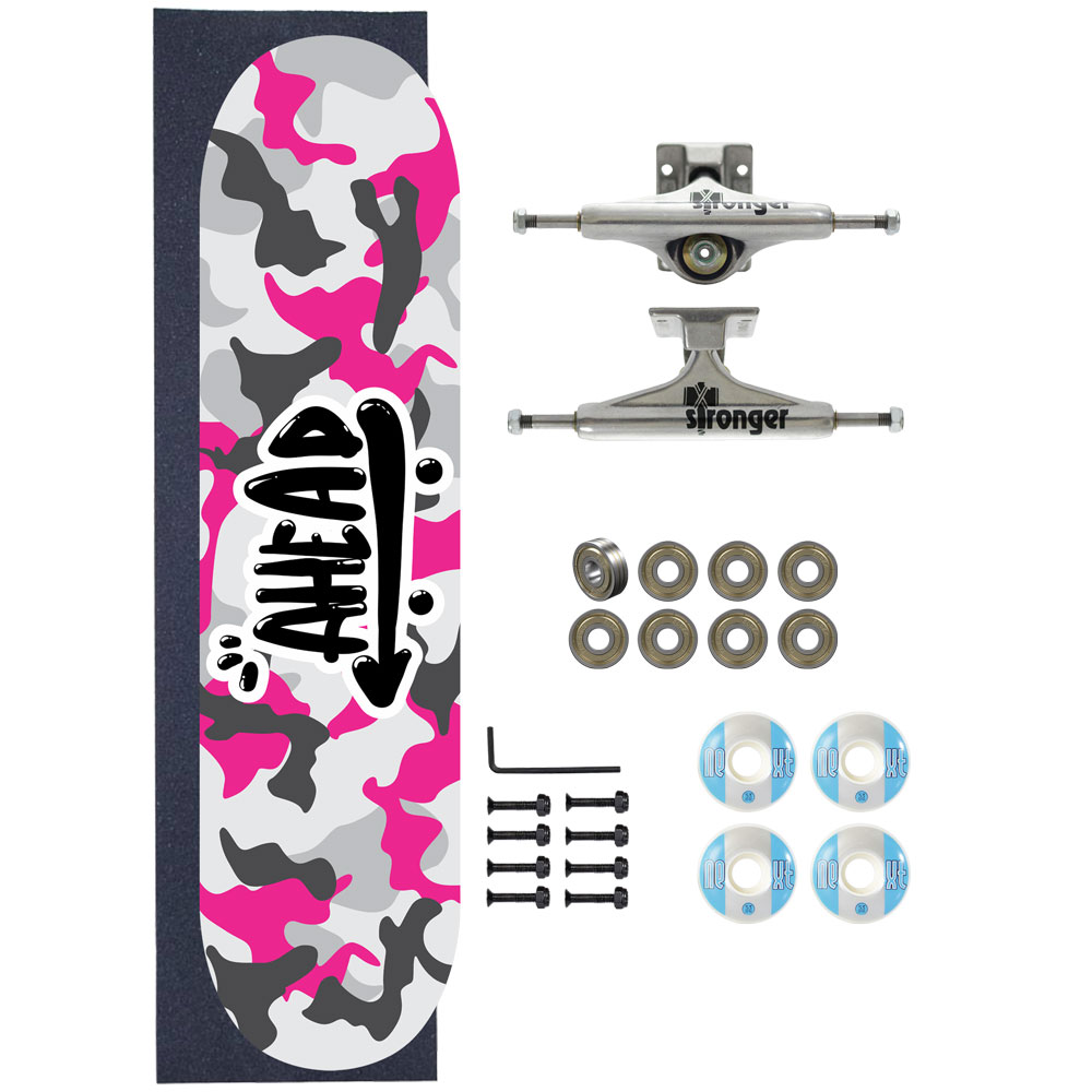 Skate Ahead Completo Amador Military All Pink