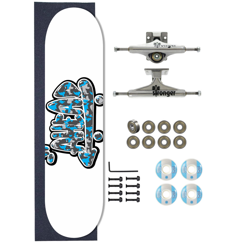 Skate Ahead Completo Amador Military Logo Blue