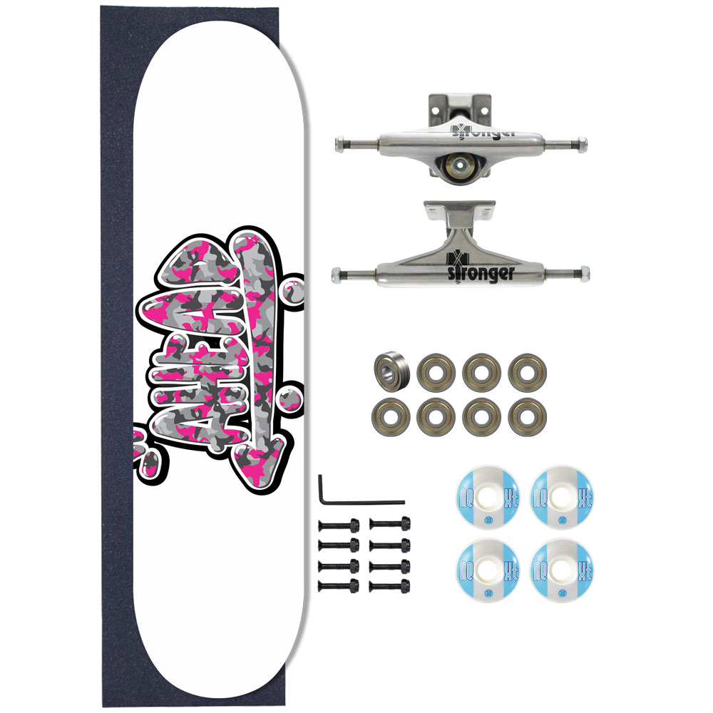 Skate Ahead Completo Amador Military Logo Pink