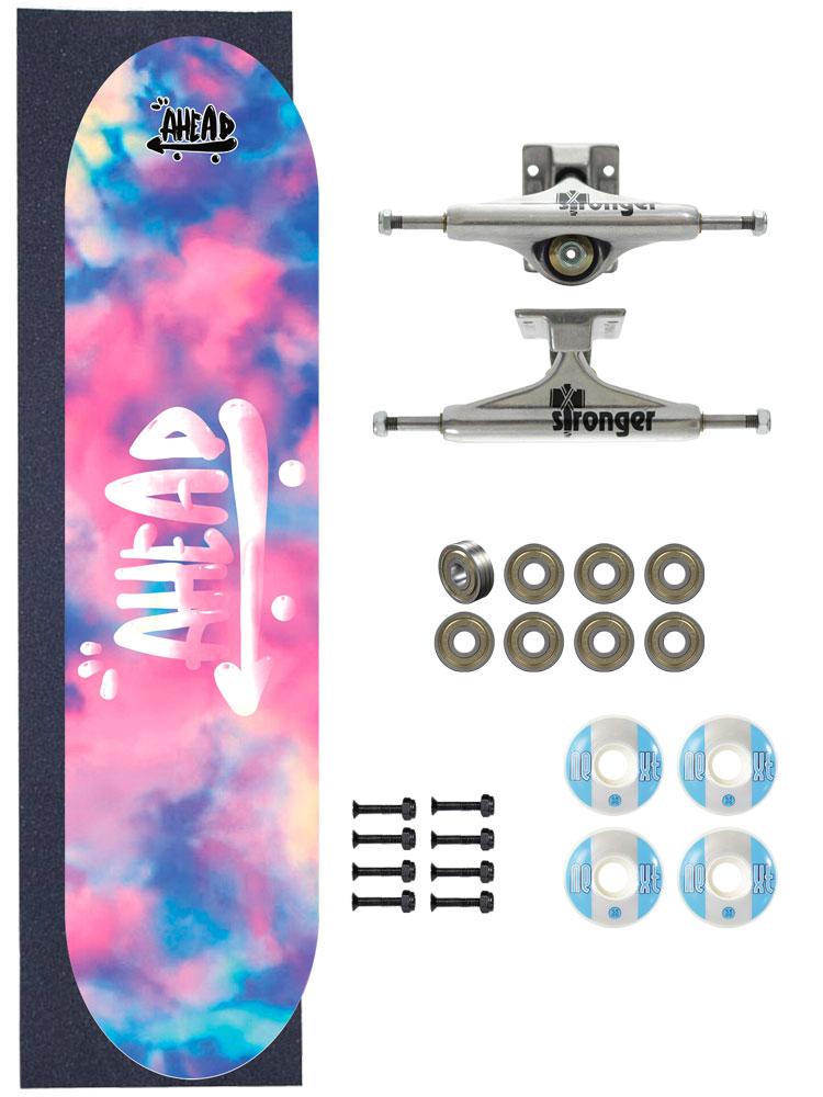 Skate Ahead Completo Amador Tie Dye Cloud