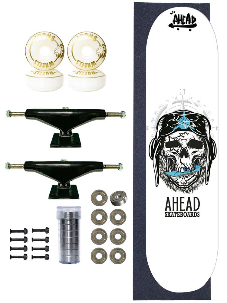 Skate Completo Ahead Bones Head Pilot